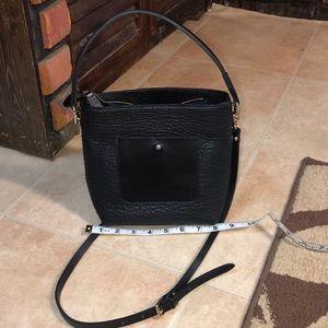 Black small crossbody purse (no label) -two straps